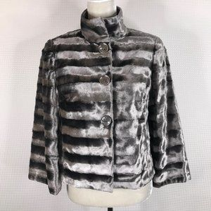 Carlisle Jacket Faux Fur Silver SOFT Snap Size 4